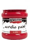 Akrylová farba matná - 230 ml - karmínová červená