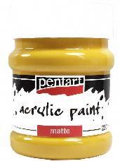 Akrylová farba matná - 230 ml - slnečnicová žltá