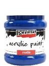 Akrylová farba matná - 230 ml - modrá
