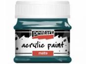 Matná akrylová farba Pentart - 50ml - tyrkysová modrá