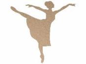 MDF silueta - balerína 25 cm