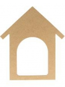 MDF silueta - domček 25 cm