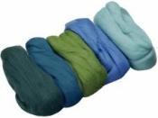 Merino plsť - vlna 50 g farebný mix - smaragd