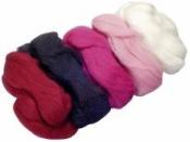 Merino plsť - vlna 50 g farebný mix - ružová