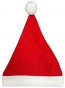 Filcová čiapka mikuláš 12 cm - červená