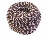 Bavlnený špagát 25m - bielo-bordový