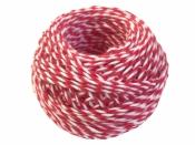 Bavlnený špagát 25m - bielo-červený