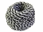 Bavlnený špagát 25m - bielo-čierny