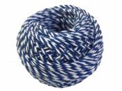 Bavlnený špagát 25m - bielo-modrý