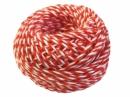 Bavlnený špagát 25m - bielo-koralový
