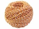 Bavlnený špagát 25m - bielo-oranžový