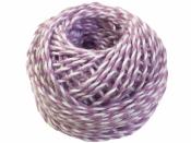 Bavlnený špagát 25m - bielo-fialový