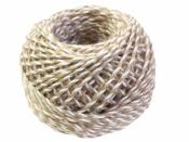 Bavlnený špagát 25m - bielo-hnedý