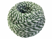 Bavlnený špagát 25m - bielo-zelený