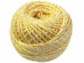 Bavlnený špagát 25m - bielo-žltý