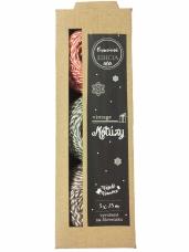 Sada bavlnených špagátov - 3x25m - vintage Vianoce