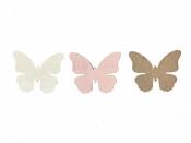 Drevený výrez 3,5 cm motýľ - biely