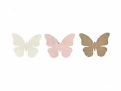 Drevený výrez 3 cm motýľ - hnedý