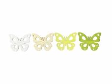 Drevený výrez 2 cm motýľ - krojený - zelený