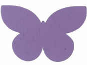 Drevený výrez motýľ - 7cm - fialový