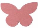 Drevený výrez motýľ - 7cm - ružový