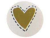 Okrúhla  nálepka 4,7 cm - zlaté srdce