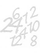 Nálepky adventné čísla strieborné