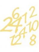 Nálepky adventné čísla zlaté