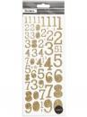 Kreatívne glitrované nálepky čísla - zlaté