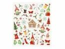 Kreatívne nálepky - vianočné glitter postavičky
