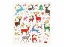 Kreatívne nálepky - vianočné glitter jelene