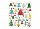 Kreatívne nálepky - vianočné glitter stromčeky