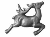 Nalepovacia ozdoba jeleň 4x3 cm - strieborný