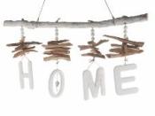 Dekoračný drevený nápis HOME - závesný