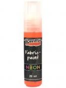 Neónová farba na textil 20 ml - oranžová