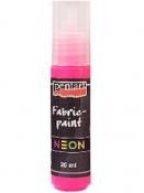 Neónová farba na textil 20 ml - ružová