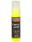 Neónová farba na textil 20 ml - žltá