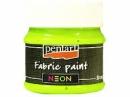 Neónová farba na textil 50 ml - zelená