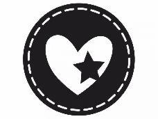 Okrúhla pečiatka - srdce s hviezdou