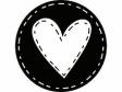 Okrúhla drevená pečiatka - Srdce