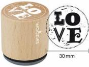 Okrúhla drevená pečiatka - Love
