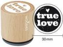 Okrúhla drevená pečiatka - True love