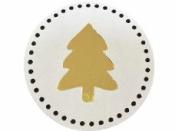 Okrúhla  nálepka 4cm - zlatý stromček