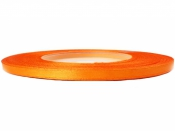 Saténová stuha - 3mm - oranžová
