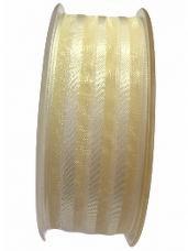 Organzová stuha 25 mm - maslová