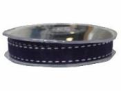 Organzová stuha so štepaním - 15mm - fialová