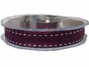 Organzová stuha so štepaním - 15mm - purpurová
