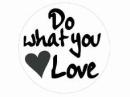 Okrúhla  nálepka 4cm - Do what you love