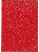 Kreatívny papier A4 - červený