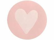 Okrúhla  nálepka 2,5cm - ružové srdce